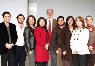 Joe McVeigh with the teacher-training team at Universidad Andrés Bello